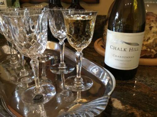 Vintage crystal Wine Glasses Elyse by TIFFIN-FRANCISCAN clear to cut formal stem
