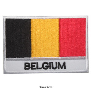 Belgium National Flag Embroidered Patch Iron on Sew On Badge For Clothes Bag etc