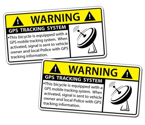 GPS Tracking Bicycle Sticker Bike Anti Theft Security Alarm Warning Alert Decal