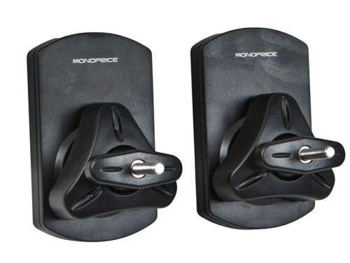 Speaker Wall Mounting Bracket Max 22 LBS Black - Set of 2