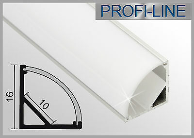 9,25 EUR/m  Winkel Profil 2m, Eckprofil Alu LED-Profile für LED Strips >107001
