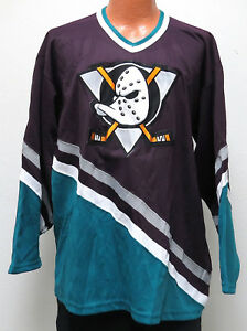separation shoes 3410e e380f Details about vtg ANAHEIM MIGHTY DUCKS Maroon Jersey XL Cosby Brand CCM 90s  throwback nhl rare