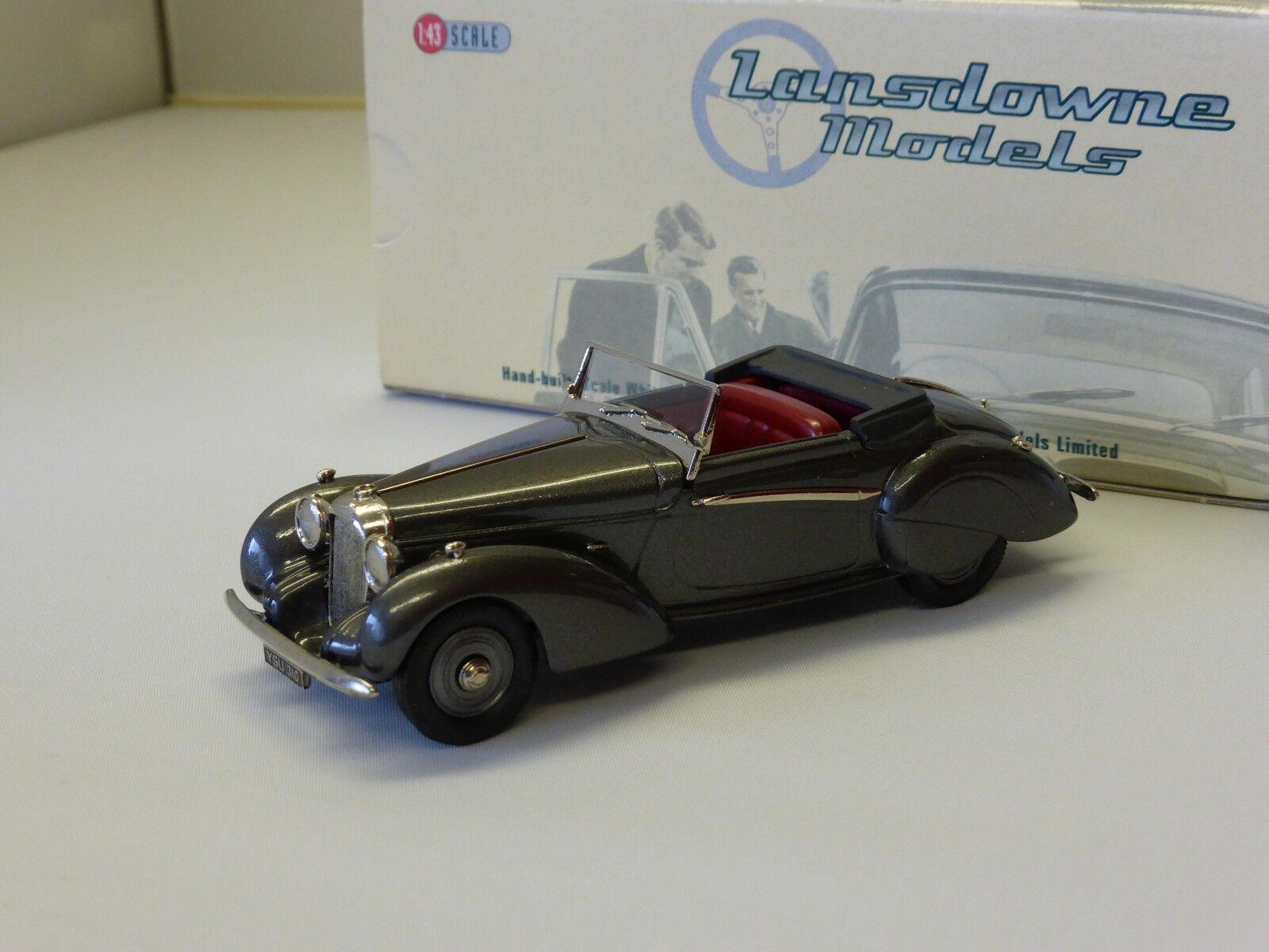 Lansdowne Models 1939 Lagonda V12 Rapide Drophead Coupe (Gunmetal gris) 1 43 78