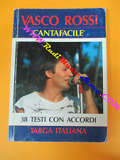 spartito VASCO ROSSI cantafacile 1987 TARGA ITALIANA CARISCH no cd lp mc dvd