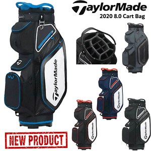 TAYLORMADE GOLF BAG 8.0 GOLF CART BAG TROLLEY BAG 14 WAY DIVIDER TOP NEW 2020