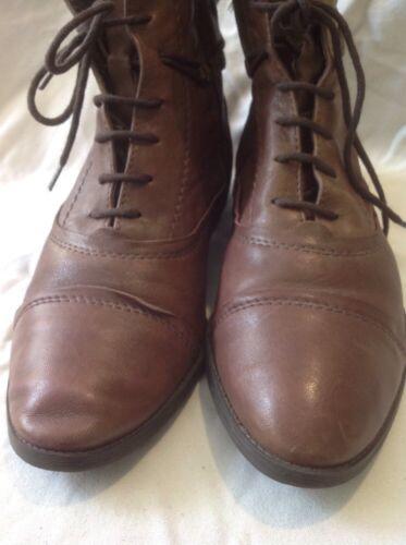 38 Clarks marrón de tobilleras talla Botas cuero qS8UxC