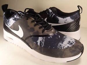 Nike Womens AIR MAX THEA PRINT Shoes BlackDark Grey 599408