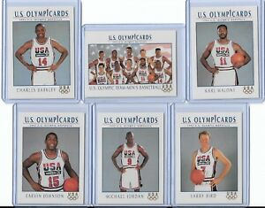 f522f9bb10b 1992 US OLYMPIC DREAM TEAM (11) CARD SET W/ MICHAEL JORDAN ...