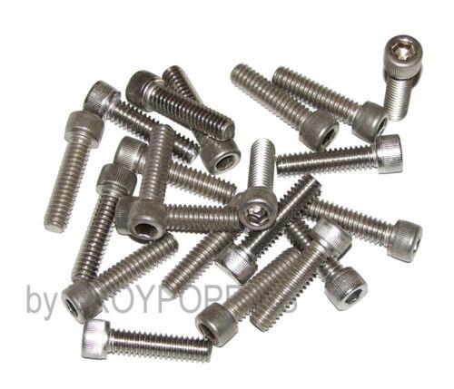20-SS 1//4-20 X 1 SH SOCKET HEAD CAP MACHINE SCREWS STAINLESS STEEL 18-8 HARDWARE