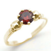 Skull Ring 9ct Gold 1ct Garnet Diamond-unique Hand Crafted Engagement Ring