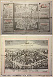 Orig-Prospekt-Die-Stadt-Leipzig-1894-Sachsen-Geografie-Geschichte-Geographie-sf