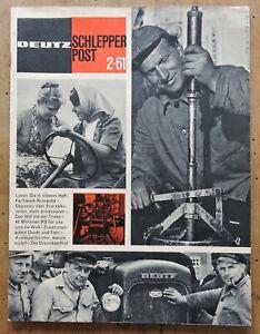 """orig. Zeitschrift Deutz """" Schlepper Post """" 2-1961 36Seiten Traktor Schlepper -  94374 Schwarzach, Niederbayern, Deutschland - orig. Zeitschrift Deutz """" Schlepper Post """" 2-1961 36Seiten Traktor Schlepper -  94374 Schwarzach, Niederbayern, Deutschland"""