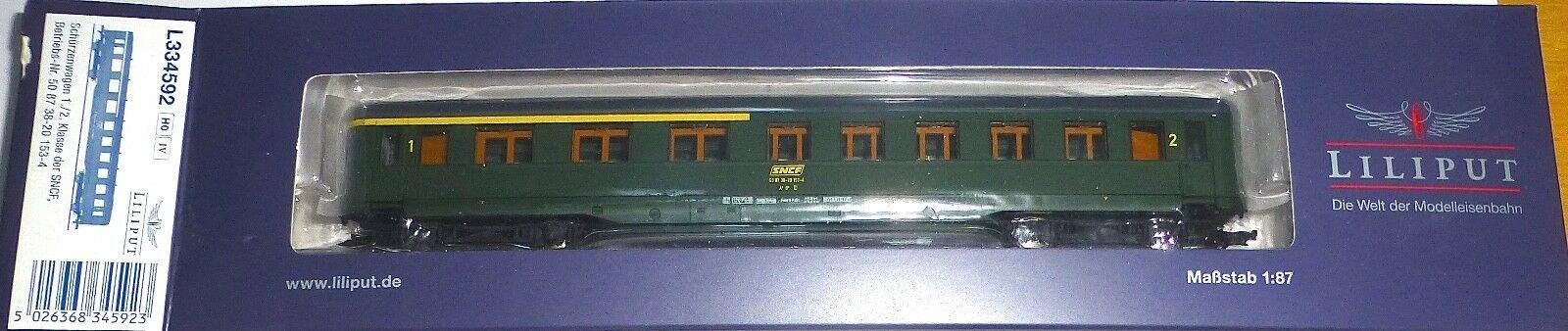 SNCF Schürzenwagen 1 / 2  cl. 50 87 38-20 153-4 EP4 Liliput l334592 H0 1:87