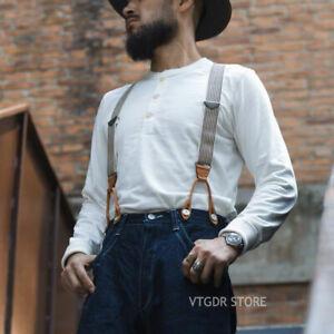 Bronson-Vintage-Men-Henley-Tee-Shirt-Heavyweight-Ribbed-Long-Sleeve-T-Shirts-Top