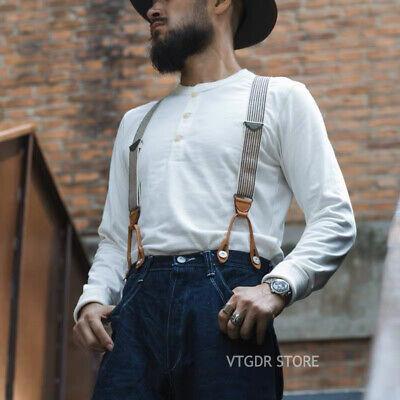 Bronson Henley T-shirt vintage Homme épais à manches courtes en coton