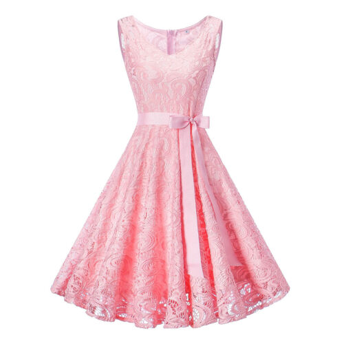 Women/'s Lace Formal Floral Cocktail Party Wedding Evening Gala Bridesmaid Dress