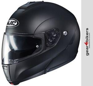 HJC-C90-Solid-Matt-Black-Modular-Motorcycle-Helmet-Flip-Up-Front-System-Plain