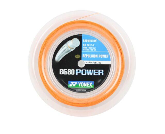 Yonex BG80 Power Badminton String BG 80 - 200m Reel Bright ...