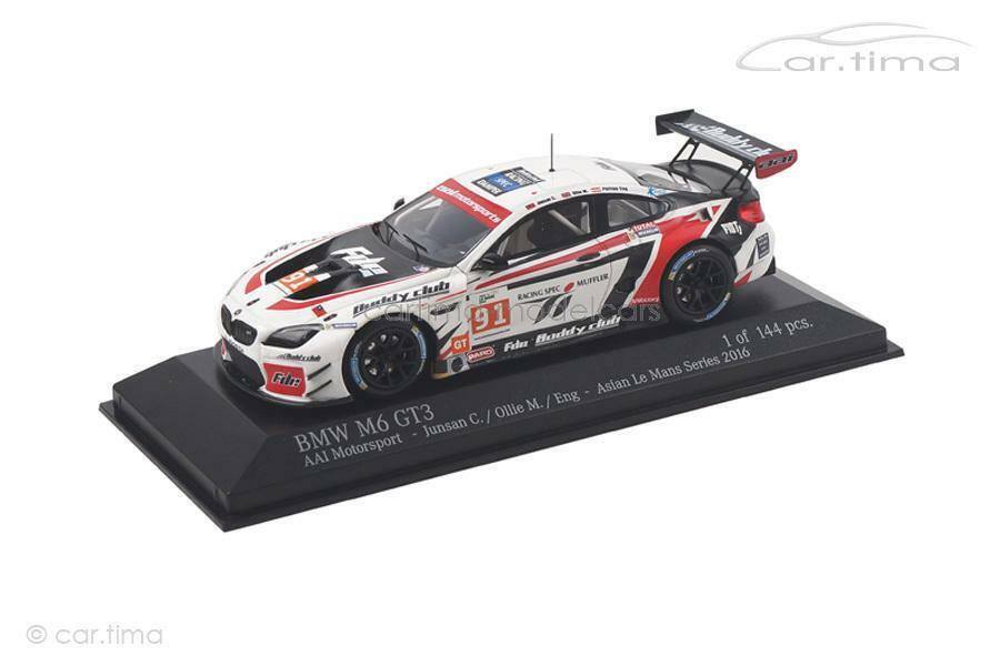 grandi risparmi BMW m6 gt3-Asian Le uomos Series 2016-ENG Ollie - 1 1 1 of 144-MINICHAMPS - 1  shopping online di moda