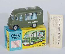 Corgi 359 Commer 'U.S. Army Field Kitchen'. Green. RARE. MINT/Boxed 1960's