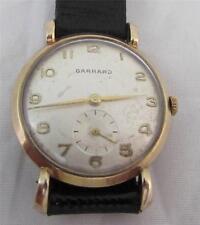 Vintage 9ct Gold Garrard Wrist Watch with Deco Lugs Ex Spitfire Pilot