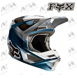 Fox Helmet V-1 Motif Blue//Grey S