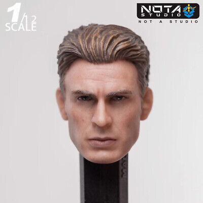 1//12 Captain America Steve Rogers Head Sculpt Male Head Carving F 6/'/' SHF Figure