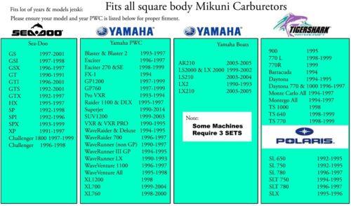 Seadoo Carb Mikuni carburetor Needle /& Seat kit XP SP SPI SPX GTX GTS GTI GS GSI