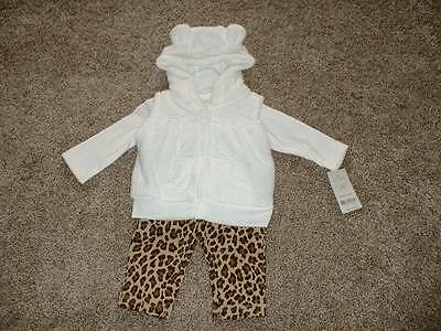 Carter's Baby Girls Leopard 3pc Pant Outfit Set Size 3 Months 3M NWT NEW Clothes