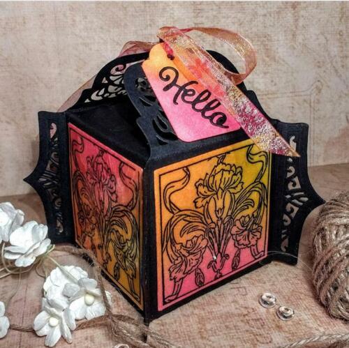 Süßigkeiten Box Metall Stencil Cutting Dies Scrapbooking Stanzschablone Album