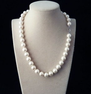 Pretty or 10 mm South Sea Shell collier de perles AAA 20 in environ 50.80 cm