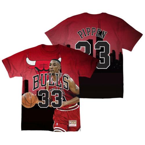 Scottie Pippen Chicago Bulls 33 T-Shirt NBA Trikot Last Dance Basketball Jersey