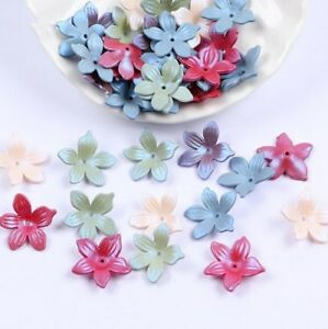 100pcs-Mixed-Acrylic-Frosted-flowers-Beads-Headdress-flower-accessories-19mm