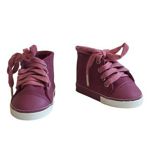 18 Inch Doll Shiny Leather Sneakers Red Fits For  American Girl Doll