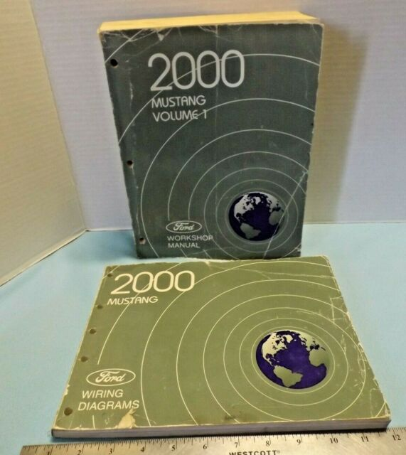 2 Ford 2000 Mustang Official Factory Manuals Vol 1