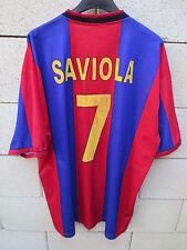 VINTAGE Maillot BARCELONE BARCELONA camiseta SAVIOLA n°7 shirt jersey XXL