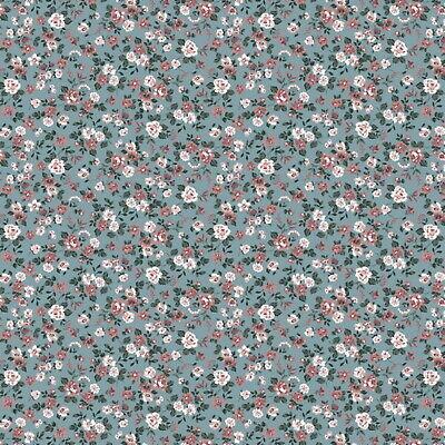 Stoff Meterware Romantik Blumen Weiß Kinder Deko Dirndl Bettwäsche Kissen