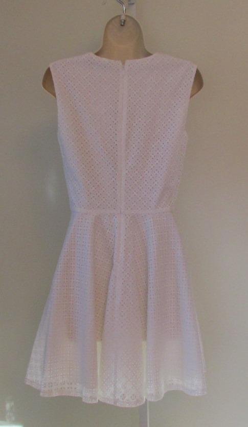 Diane von Furstenberg Jeannie white eyelet shift dress 8 8 8 new DVF sleeveless e5904f