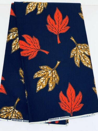 African Cotton Fabric Wax Print Per Yard Bright Colourful Ankara