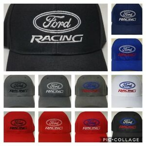 Image is loading FORD-RACING-Embroidered-Baseball-Hat-Cap-Adjustable-FORD- 291666338293