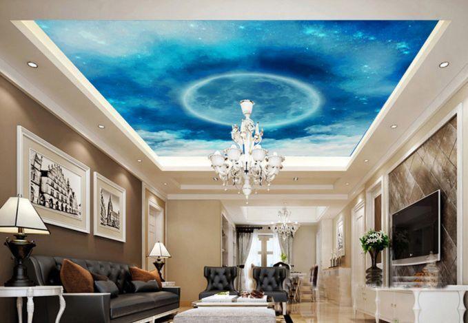 3D Blauer Himmel Sterne 57 Fototapeten Wandbild Fototapete BildTapete FamilieDE