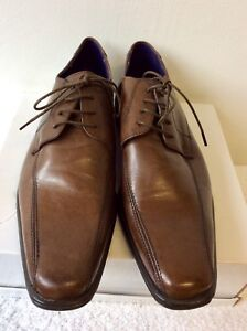 BRAND NEW TAYLOR & WRIGHT BROWN LEATHER LACE UP SHOES SIZE 9/44