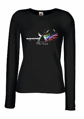 PINK FLOYD DARK SIDE OF THE MOON 2 Lady Long Sleeve T-shirt Woman Rock Band Tee