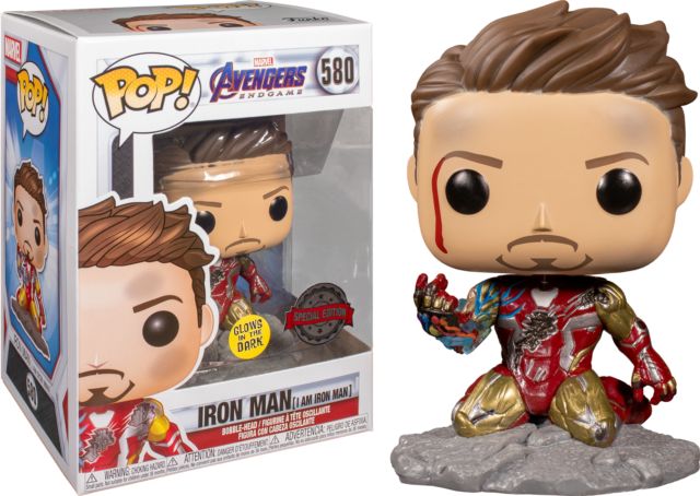 I am Iron Man Glow GITD Funko Pop Vinyl New in Mint Box + Protector