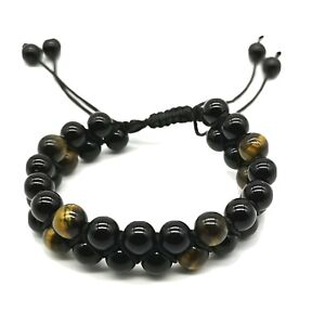 ONLY £5!! Tiger Eye Beads Bracelet with Gemstone Healing & Protection Crystals