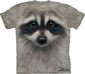 Raccoon-Face-Kids-T-Shirt-from-The-Mountain-Cute-Animal-Childs-Sizes-NEW