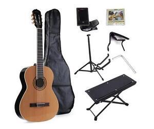 Classical-Guitar-Student-Beginner-Nylon-String-Set-with-Gig-Bag-E-tuner