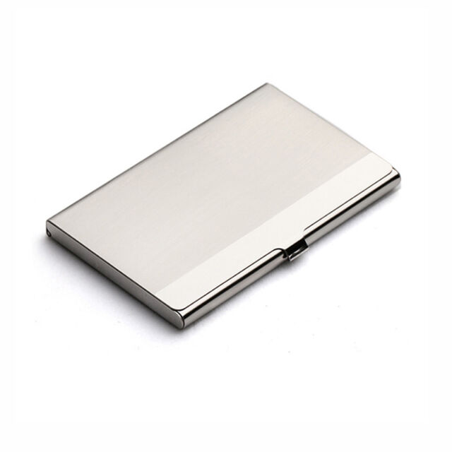 Waterproof Stainless Steel Business ID Credit Card Holder Case Box