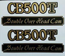 HONDA CB500T CB500 T MODEL SIDE PANEL DECALS (PAIR)
