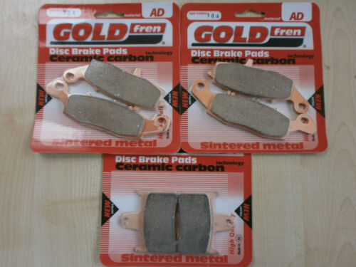 GSF650 GOLDFREN 2009 FULL SET SINTERED BRAKE PADS for SUZUKI GSF 650 BANDIT
